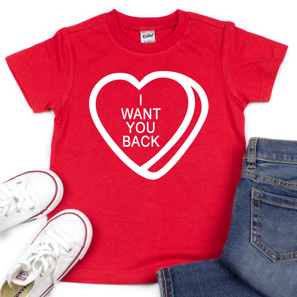I Want You Back - Kids VDay Tee - West+Mak