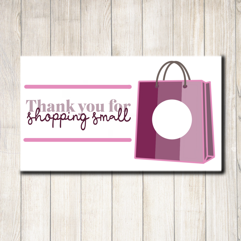 Thank You for Shopping Small Scratcher - Individually Cut