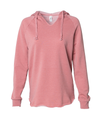 Listen to your Heart - Women's Wave Wash Hooded Pullover - West+Mak