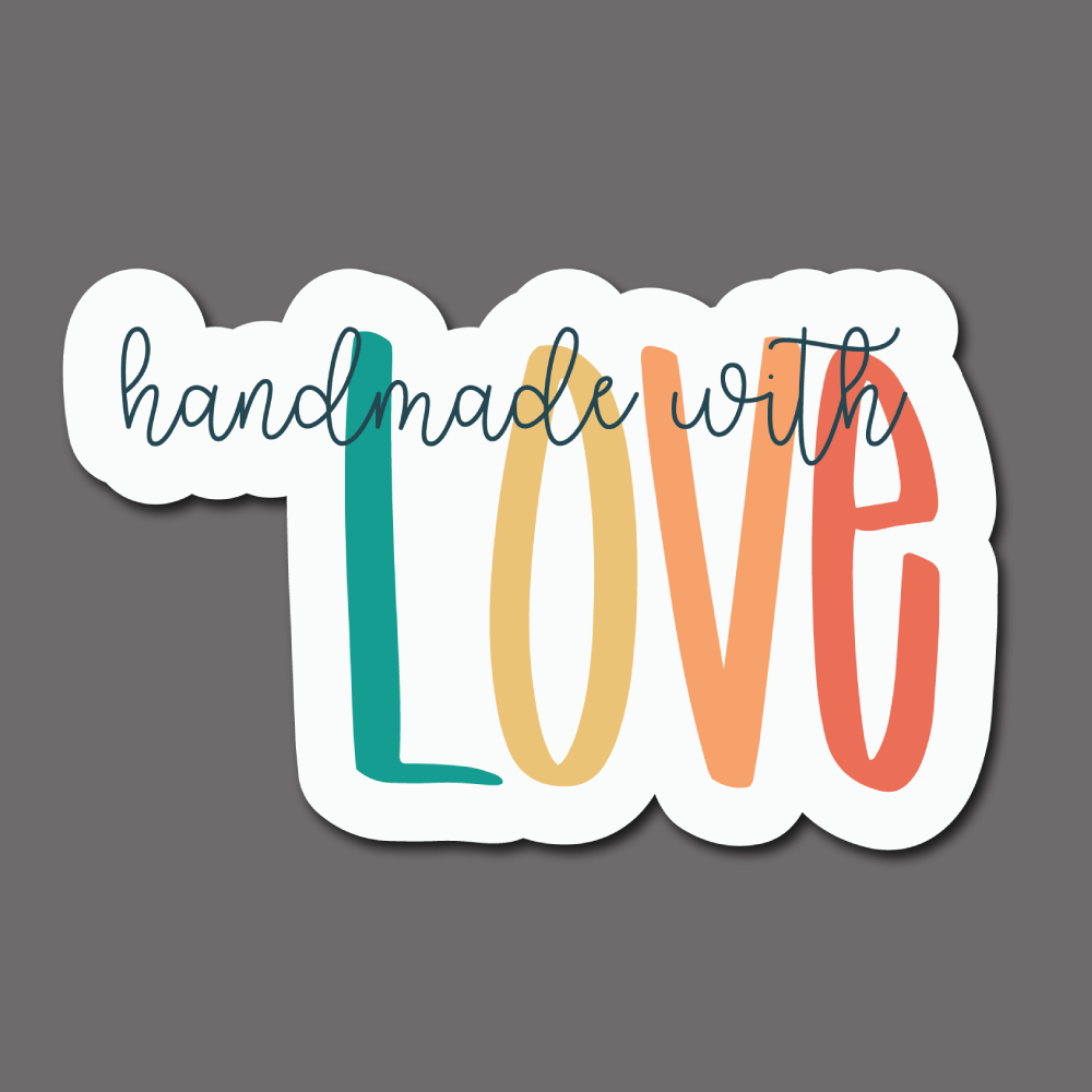 Handmade with Love (Colorful) - Sticker Sheet (32 Stickers)