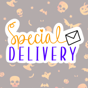 """Special Delivery"" Sticker Sheet - 50 Stickers"