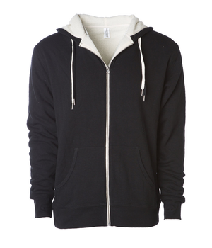 Doing it With Grace (Left Chest Print) -  Unisex Sherpa Lined Zipper Hoodie - West+Mak