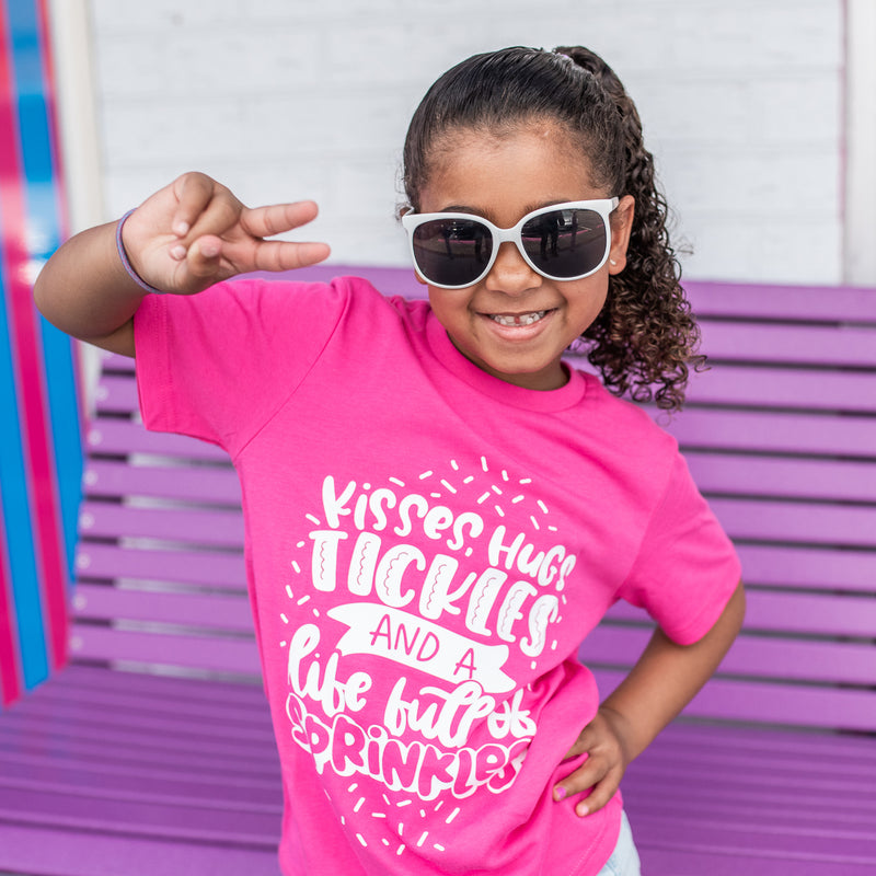 Life Full of Sprinkles - Hot Pink Kid's Tee - West+Mak