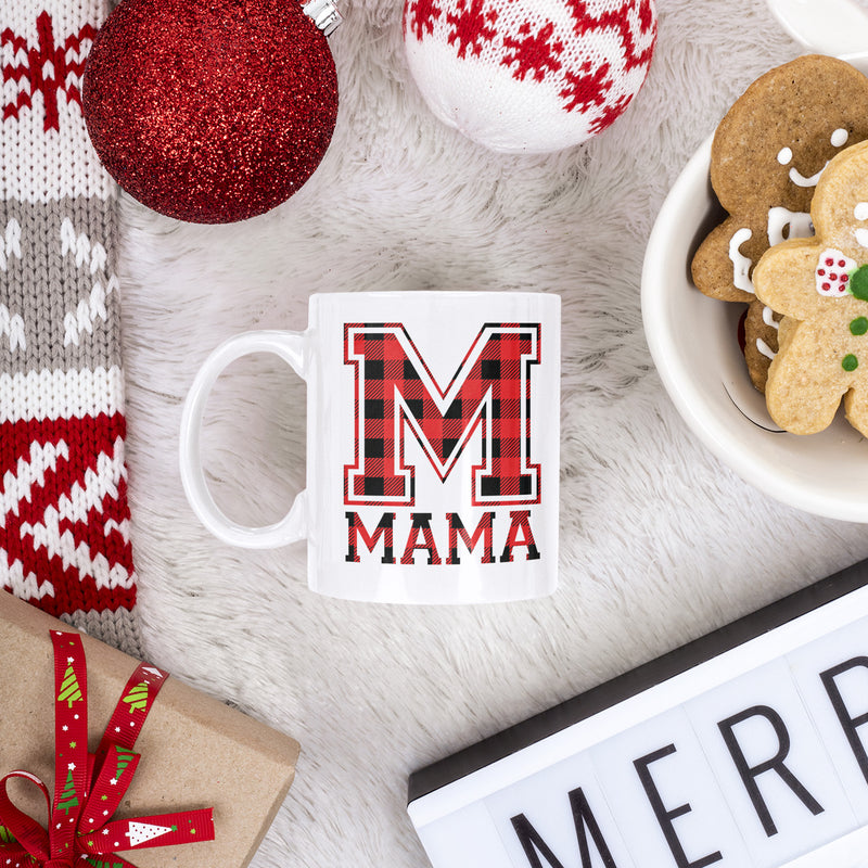 Mama Buffalo Plaid - 15oz Mug