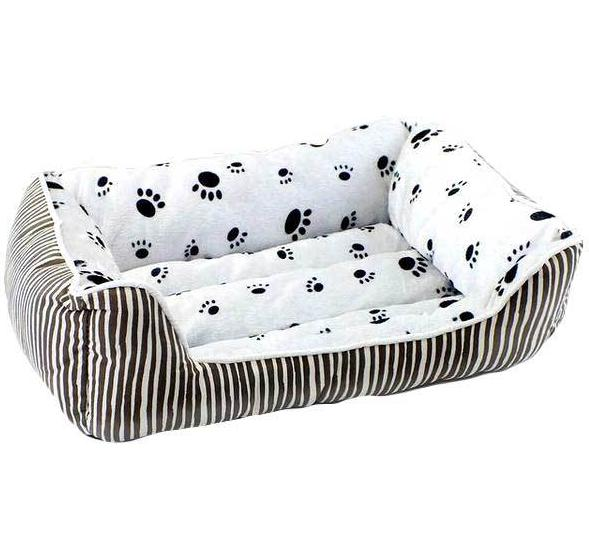 Brown Paw Prints Dog Beds