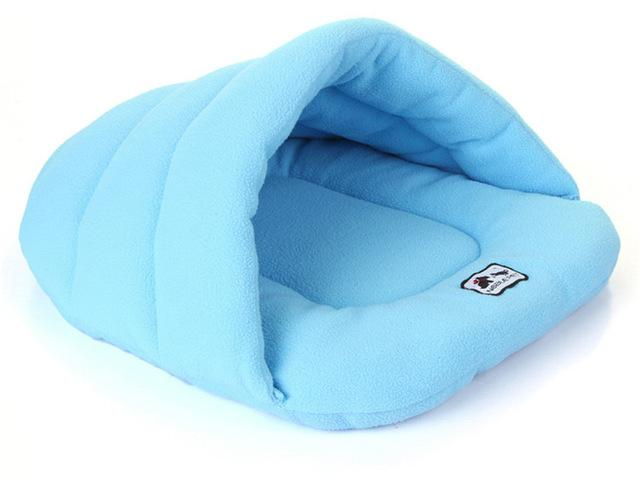 Blue Warm Pouch cats beds and dogs beds