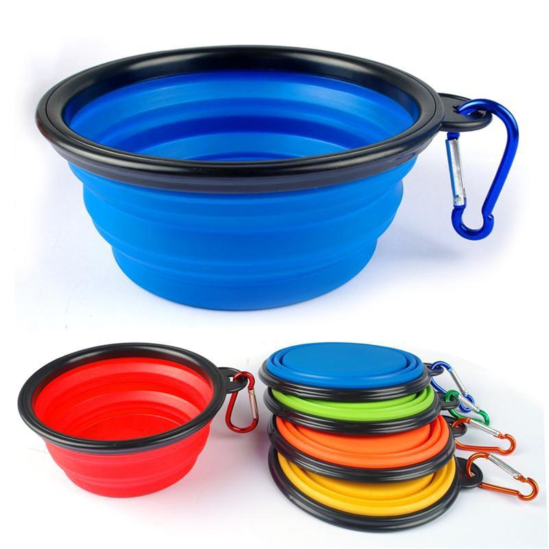 Collapsible Silcone Travel and Camping Pet Bowls