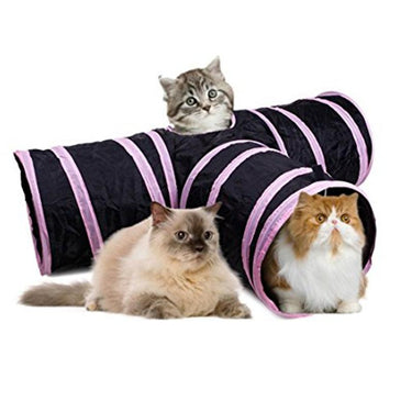 Pink Cat Tunnel Toy