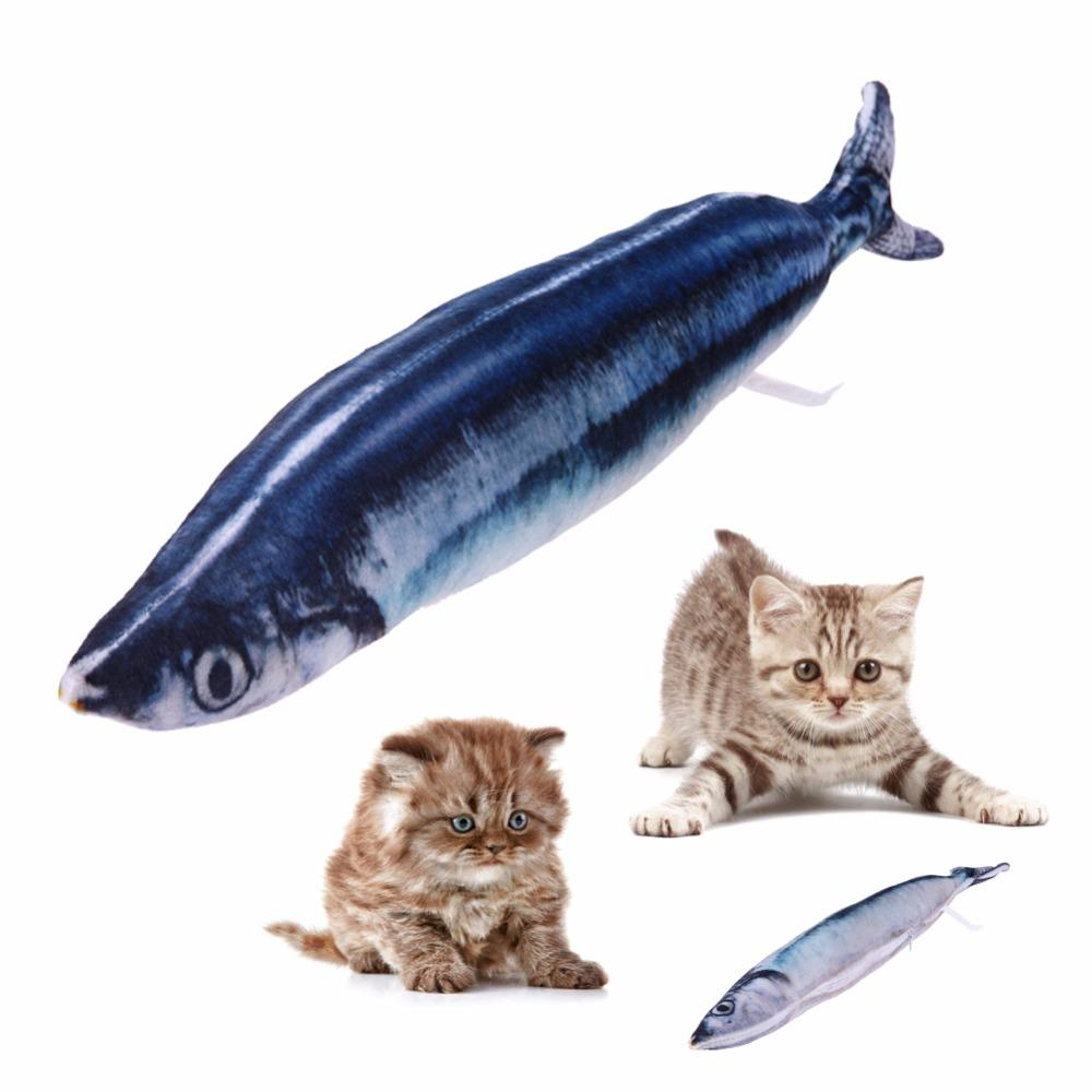 Blue Fish Cat Toys