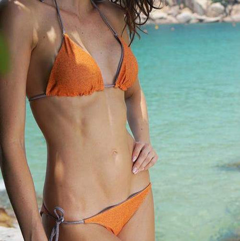 TAHITI reversible orange / gray 78% Recycled Polyester