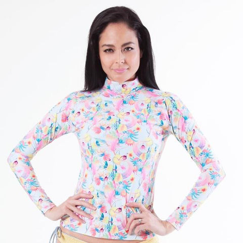 BALI Long Sleeve - Fioriscimmia 78% Recycled Polyester