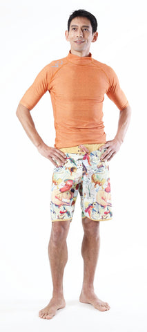 PHUKET Short Sleeve - Orange 78% Recycled Polyester