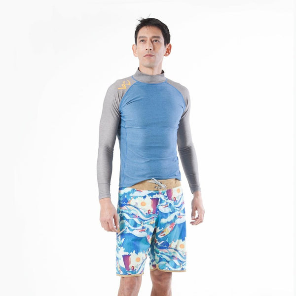PHUKET Long Sleeve - blue 78% Recycled Polyester