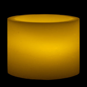 "Sizes Available - 4""x Round Wax Luminary - IntelliWick"