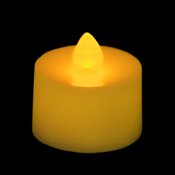 Amber LED Tea Light, Available in Flicker/ Non-Flicker - Pack of 12 - IntelliWick