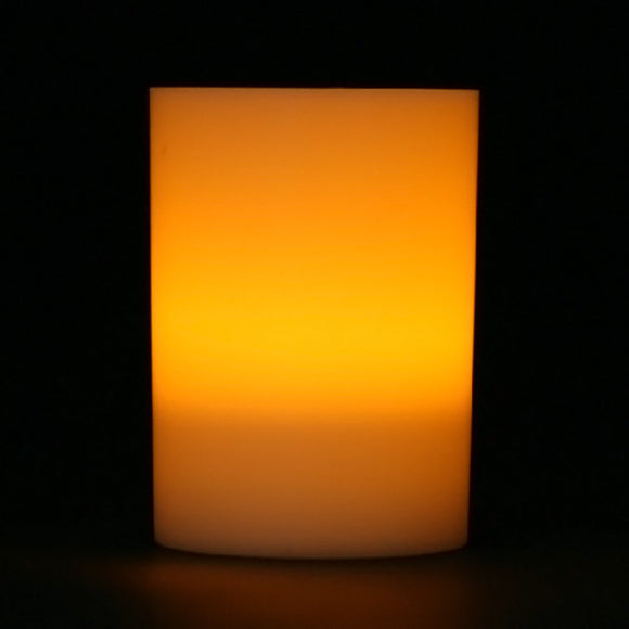 Amber LED Votive Cup, Available in Flicker/ Non-Flicker - Pack of 6 - IntelliWick