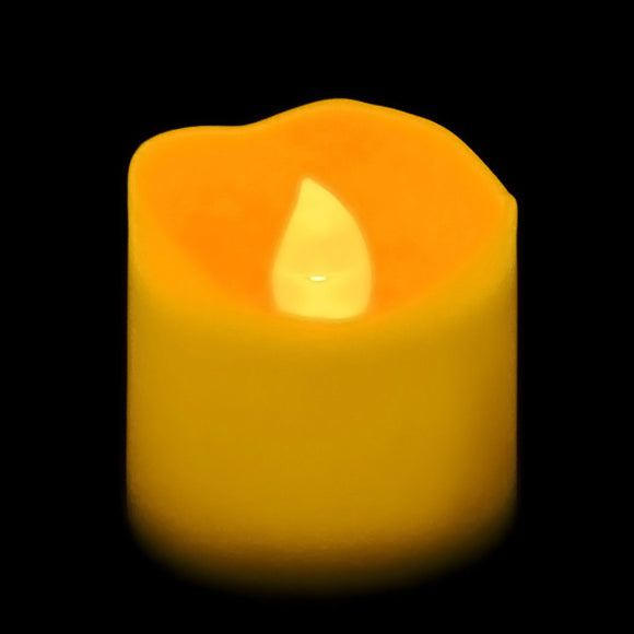 Amber LED Votive, Available in Flicker/ Non-Flicker - Pack of 12 - IntelliWick