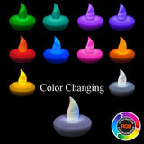 Colors Available - LED Non-Flicker Floater - Pack of 12