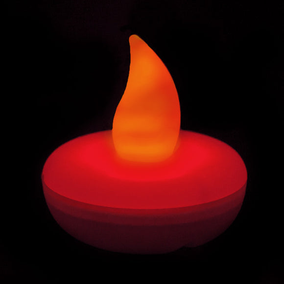 Red LED Floater, Available In Flicker/ Non-Flicker - Pack of 12 - IntelliWick
