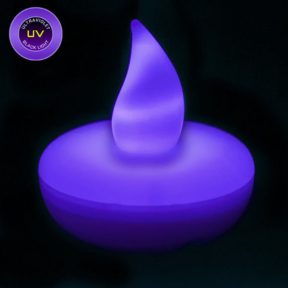 UV LED Floater, Available In Flicker/ Non-Flicker - Pack of 12 - IntelliWick