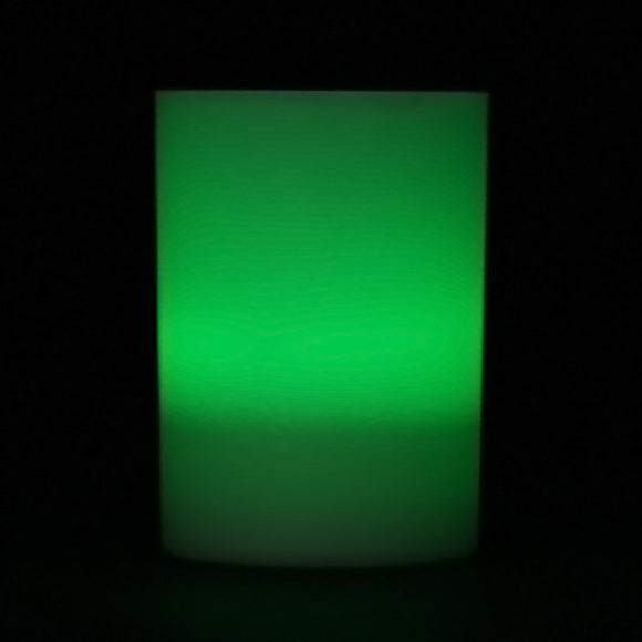 Green LED Votive Cup, Available in Flicker/ Non-Flicker - Pack of 6 - IntelliWick