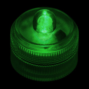 Green Remote Controlled One LED Submersible - Pack of 10 - IntelliWick