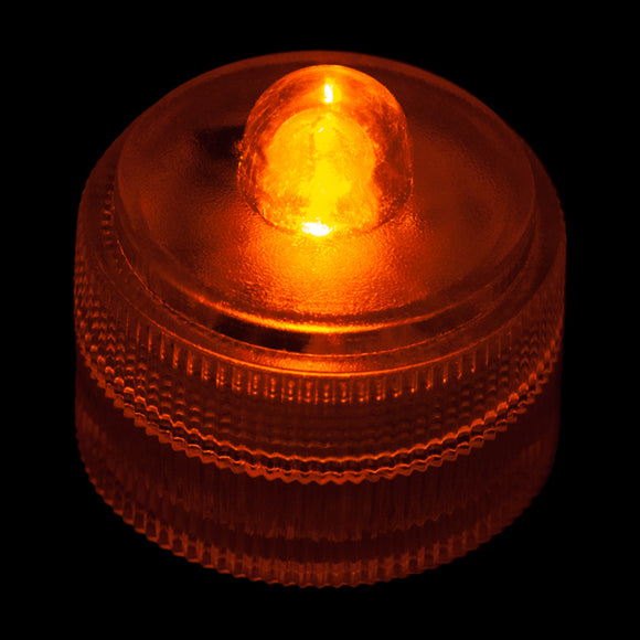 Orange Remote Controlled One LED Submersible - Pack of 10 - IntelliWick