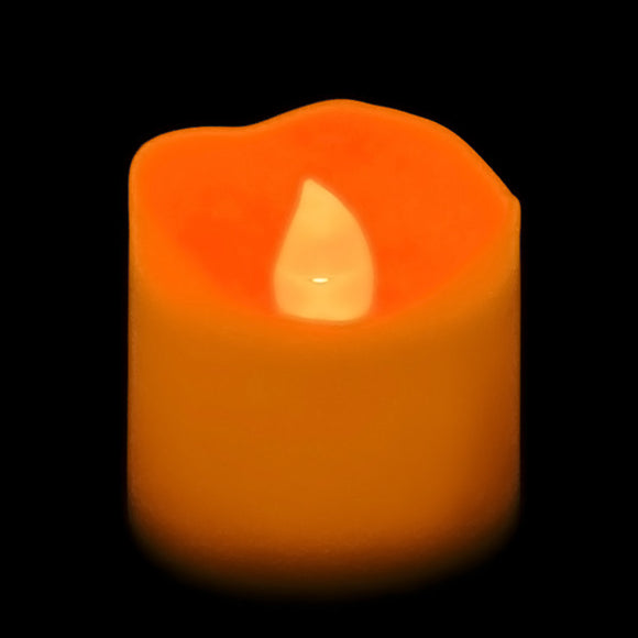 Orange LED Votive, Available in Flicker/ Non-Flicker - Pack of 12 - IntelliWick