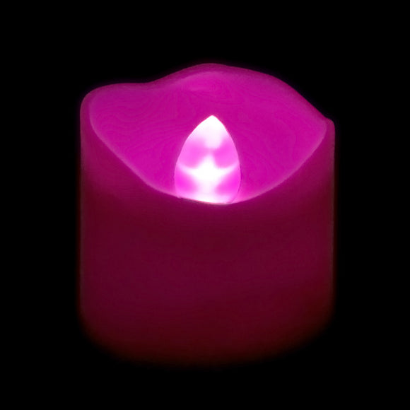 Pink LED Votive, Available in Flicker/ Non-Flicker - Pack of 12 - IntelliWick