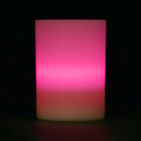 Pink LED Votive Cup, Available in Flicker/ Non-Flicker - Pack of 6 - IntelliWick