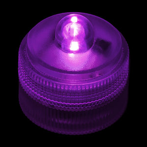 Purple Remote Controlled One LED Submersible - Pack of 10 - IntelliWick