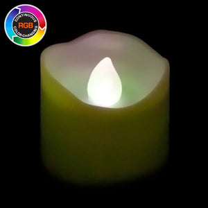 RGB LED Votive, Non-Flicker - Pack of 12 - IntelliWick