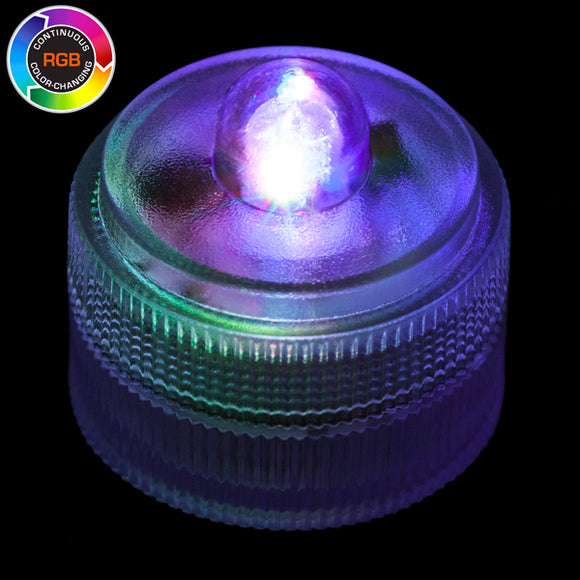 RGB Remote Controlled One LED Submersible - Pack of 10 - IntelliWick
