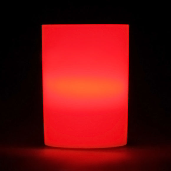 Red LED Votive Cup, Available in Flicker/ Non-Flicker - Pack of 6 - IntelliWick