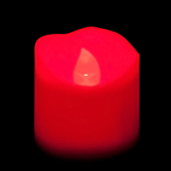 Red LED Votive, Available in Flicker/ Non-Flicker - Pack of 12 - IntelliWick