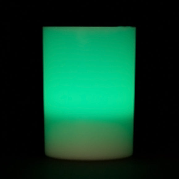 Teal LED Votive Cup, Available in Flicker/ Non-Flicker - Pack of 6 - IntelliWick