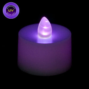 UV LED Tea Light, Available in Flicker/ Non-Flicker - Pack of 12 - IntelliWick