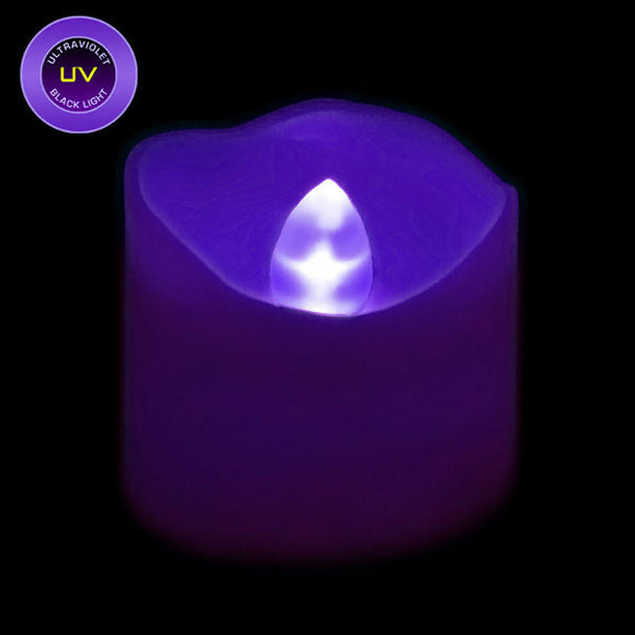 UV LED Votive, Available in Flicker/ Non-Flicker - Pack of 12 - IntelliWick
