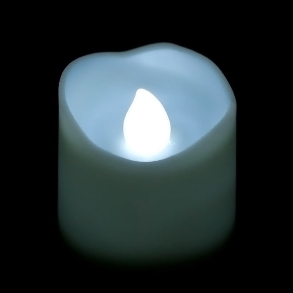 White LED Votive, Available in Flicker/ Non-Flicker - Pack of 12 - IntelliWick
