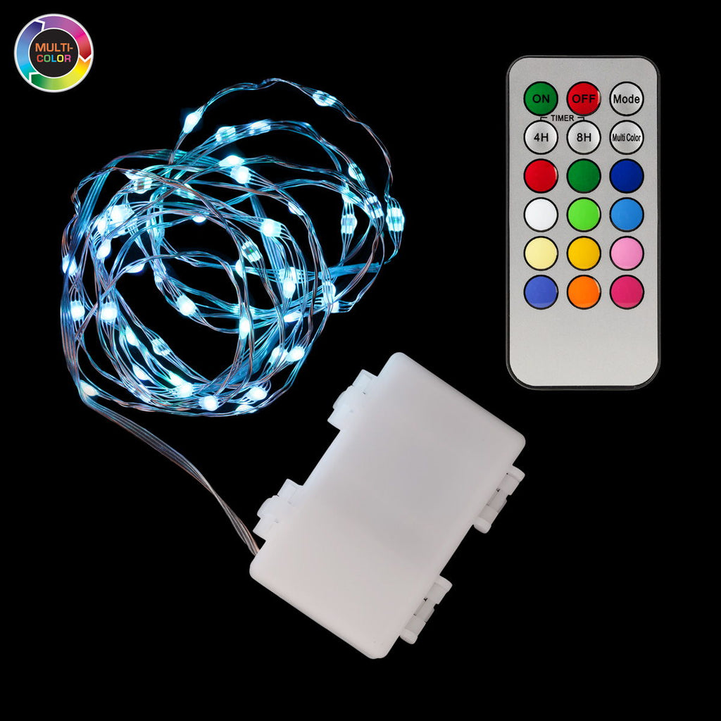 Multi-Color Fifty LED Remote Controlled String Lights - Pack of 2 - IntelliWick