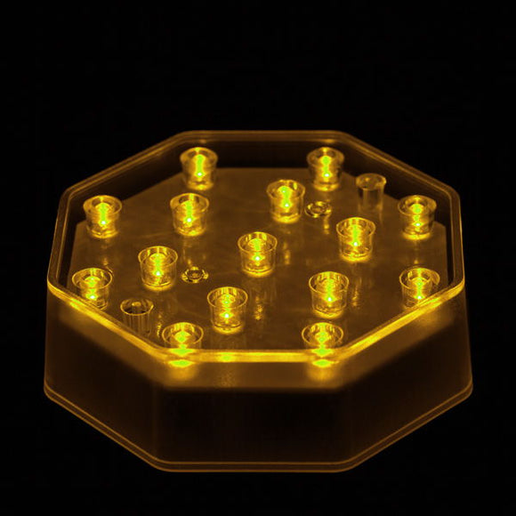Amber LED Octagon Light Base - IntelliWick