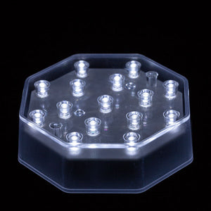 White LED Octagon Light Base - IntelliWick