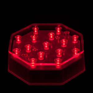 Red LED Octagon Light Base - IntelliWick