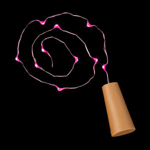 Pink Ten LED Cork Light - Pack of 6 - IntelliWick