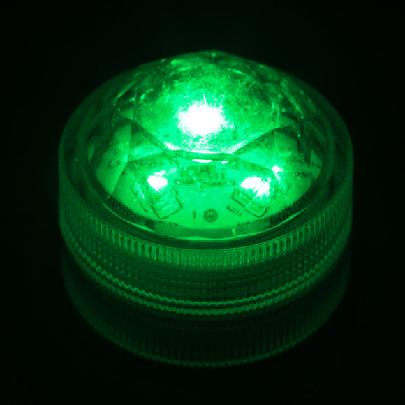 Green Three LED Submersible - Pack of 10 - IntelliWick