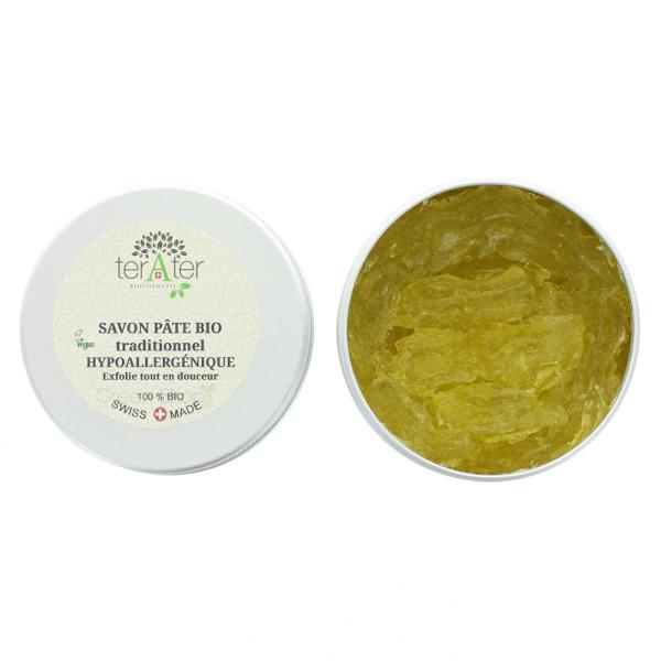 Savon pâte traditionnel BIO sans parfum Terater