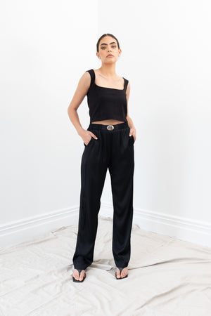 Flight Pants | Black Shine