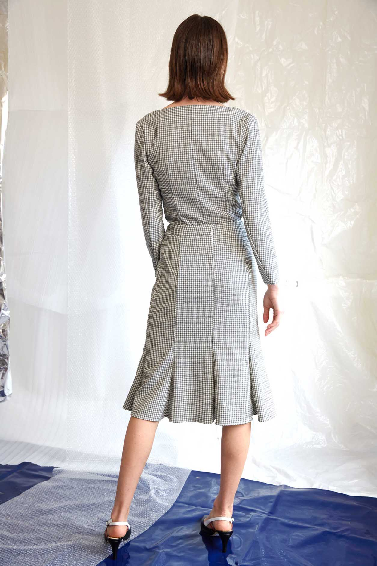 Rumi Skirt | Ivory Check