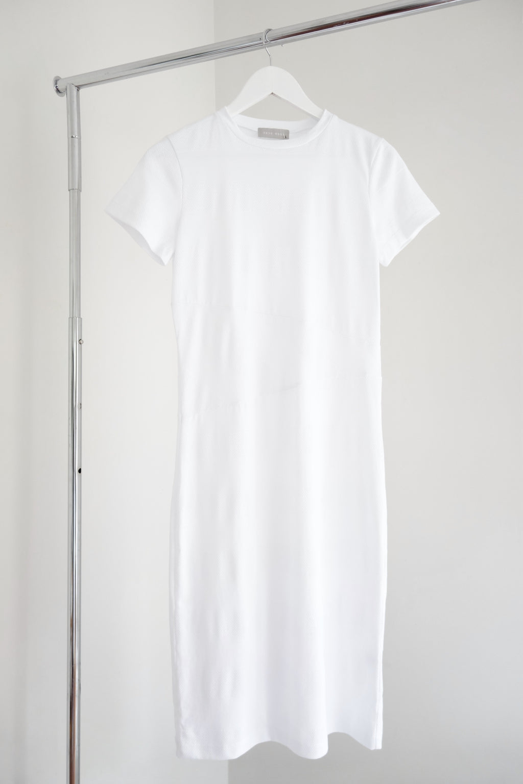 Cosmos Dress | White Mesh Stripe