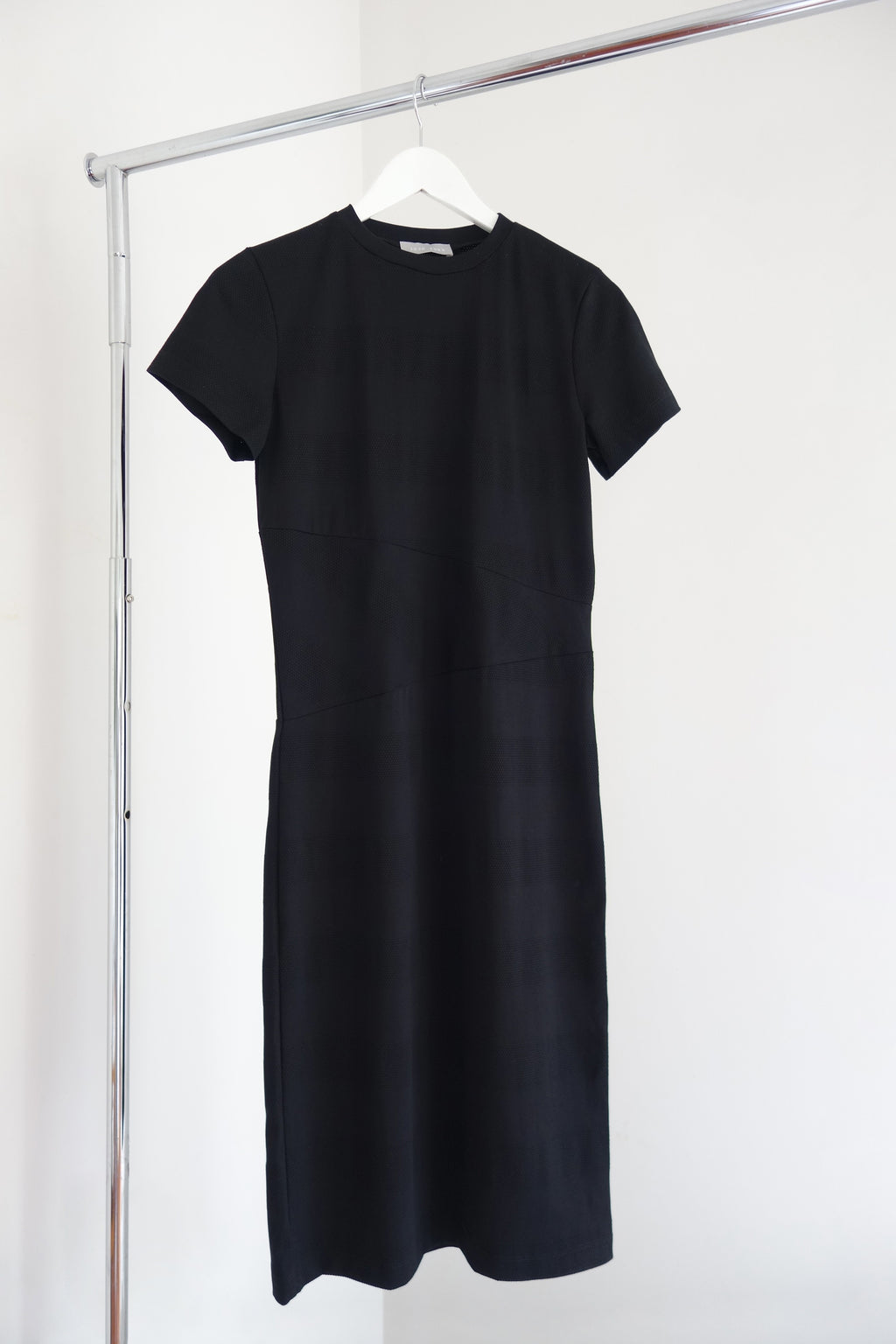 Cosmos Dress | Black Mesh Stripe